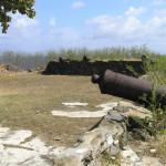 Antique cannons, Fortaleza de Nossa Senhora dos Remédios, Fernando de Noronha, Brazil. Author and Copyright Marco Ramerini
