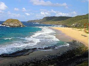 Forte do Bom Jesus do Leão, Praia do Leão, Fernando de Noronha. Author and Copyright Marco Ramerini