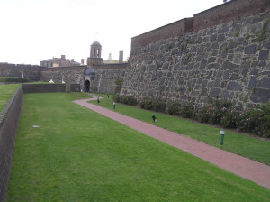 Leerdam bastion and the entrance gate to the Castle of Good Hope (Kasteel de Goede Hoop), Cape Town, South Africa. Author and Copyright Marco
