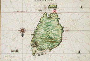 Map of São Tomé by Johannes Vingboons (1665). No Copyright