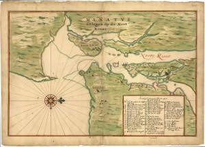 New Amsterdam (Dutch New York). Author Johannes Vingboon (1639)