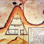 Old map of the Forte de Nossa Senhora da Conceição, Ponta do Meio, Fernando de Noronha. Photo Marco Ramerini