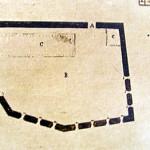 Old map of the Forte do Bom Jesus do Leão, Praia do Leão, Fernando de Noronha. Photo Marco Ramerini