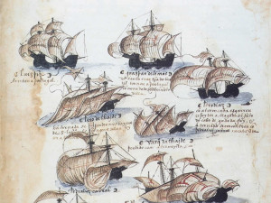 Part of the fleet commanded by Pedro Álvares Cabral, the navigator who discovered Brazil in 1500..