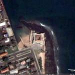Portuguese Fort São Sebastião, São Tomé, São Tomé e Príncipe. Google Earth
