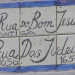 Rua do Bom Jesus (Rua dos Judeus during Dutch rule),Recife, Pernambuco, Brazil. Author and Copyright Marco Ramerini