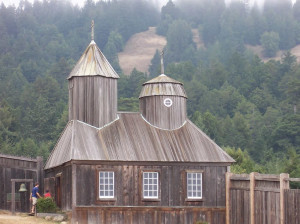 The chapel in Fort Ross (reconstructed), California, USA. Author Introvert. Licensed under the Creative Commons Attribution-Share Alike