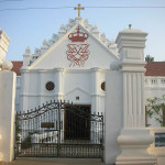 Danish Church, Tranquebar, India. Author Chenthil. Licensed under the Creative Commons Attribution-Share Alike