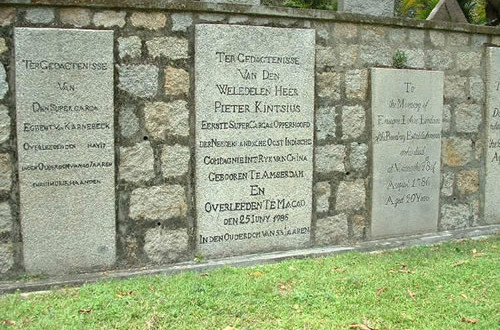 Dutch graves in the Protestant cemetery, Macau. Photo by Magiel Venema