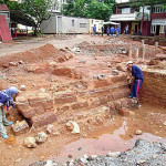 Malacca fort wall excavation. Author and Copyright Martin Carvalho and Damian Gerard Sta. Maria