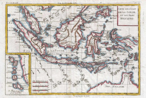 Map of Indonesia (1780). Author Rigobert Bonne and Guilleme Raynal. No Copyright