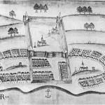 Portuguese Fort, Solor, Indonesia. Author Livro das Plantas das Fortalezas, Cidades e Povoaçoes do Estado da India Oriental 1600s. No Copyright