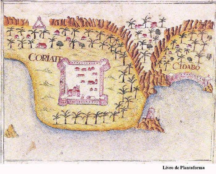 Portuguese forts of Curiate and Sidabo from Prof. Rui Carita Lyvro de Plantaforma das Fortalezas da Índia