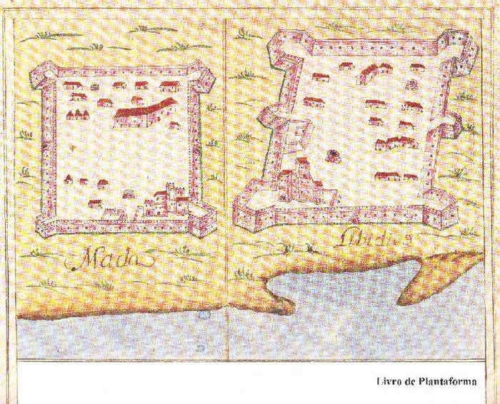 Portuguese forts of Mada and Libedia from Prof. Rui Carita Lyvro de Plantaforma das Fortalezas da Índia