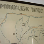 Sketch of the trade routes and settlements forts ferias. Mtoko Museum. Author and Copyright Chris Dunbar