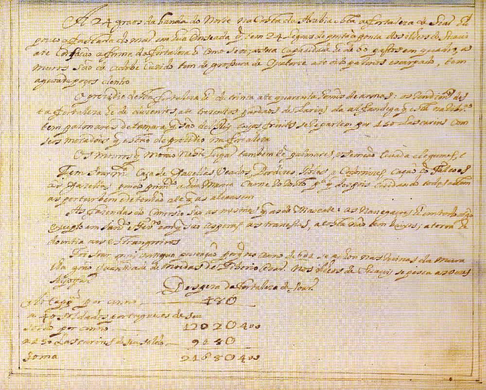 Soar. Text of the document from Prof. Rui Carita Lyvro de Plantaforma das Fortalezas da Índia