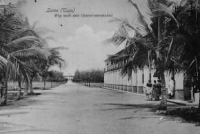 Lomé (1904), o caminho para o palácio do governador. No Copyright
