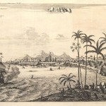 Dutch fort of Kollam (Quilon) in 1745, Kerala, India. Author Awnsham Churchill. No Copyright