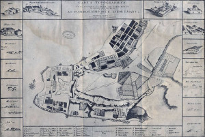 A map of the then-Portuguese town of Sacramento, 1731 by Diogo Soares
