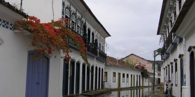 A street of Paraty, Brazil. Author and Copyright Marco Ramerini
