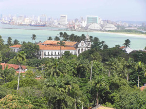 A view of Olinda with Recife on the background, Pernambuco, Brazil. Author and Copyright Marco Ramerini