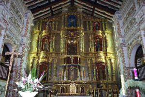 Altar Mayor, San Ignacio de Velasco mission, Bolivia. Photo Copyright by Geoffrey A. P. Groesbeck