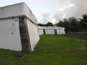 Bastions of the Forte das Cinco Pontas, Recife, Pernambuco, Brazil. Author and Copyright Marco Ramerini
