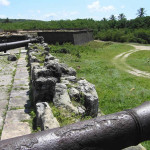 Cannons still mounted on a bastion, Fort Orange, Itamaracá. Author and Copyright Marco Ramerini