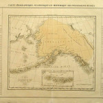 """Carte Géographique, Statistique et Historique des Possessions Russes"" Paris 1825. The map shows Alaska when it was administered by the Russian-American Company. From Atlas Géographique published by"