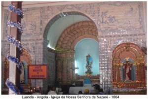Church of Nossa Senhora da Nazaré, Luanda, Angola. Author and Copyright Virgilio Pena da Costa..