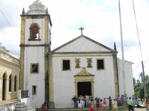 Church of São Cosme and Damião, Igarassu. It's the oldest church of Brazil (1535). Author and Copyright Marco Ramerini.