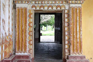 Entrance, San Rafael de Velasco mission, Bolivia. Photo Copyright by Geoffrey A. P. Groesbeck