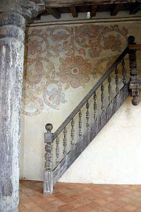 Escalera, Concepción mission, Bolivia. Photo Copyright by Geoffrey A. P. Groesbeck