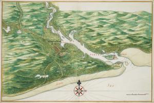 Frederik Stadt (Paraiba, João Pessoa) (1665). Author Johannes Vingboons