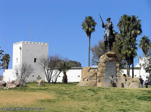 Das Reiterdenkmal, Windhoek, Namibia. Author and Copyright: Marco Ramerini