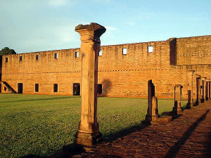 The Jesuit mission of Jesus Tavarangue, Paraguay. Author Patty P.  No Copyright