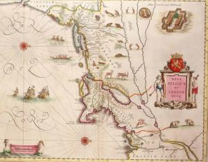 Map of New Netherland and New England (1635). Author Willem Blaeu in Theatrum Orbis Terrarum