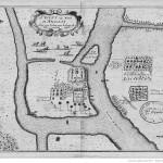 Map of the community at Tranovato (Ilha de Santa Cruz) (1656), Madagascar. Author Flacourt. Bibliothèque Nationale de France