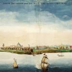 Nieuw Amsterdam (Dutch New York) by Johannes Vingboons (1664)
