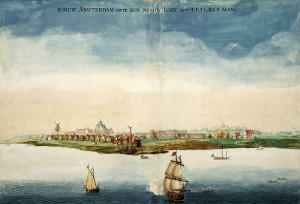 Nieuw Amsterdam (Dutch New York) by Johannes Vingboons (1664)