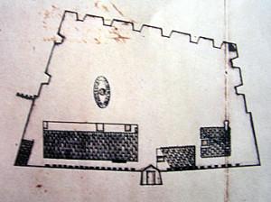 Old Map of Forte de Santo Antônio, Ponta de Santo Antônio, Fernando de Noronha. Photo Marco Ramerini