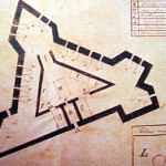 Old Map of the Forte de São José do Morro, Ilha de São José, Fernando de Noronha. Photo Marco Ramerini