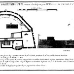 Plan of the fortress at the island of Arguin in 1721. Originaly plublished by Jean-Baptist Labat (1663-1728).