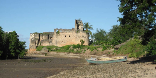 Portuguese Fort, Kilwa, Tanzania. Author and Copyright Alan Sutton