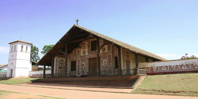 San Miguel de Velasco mission, Bolivia. Photo Copyright by Geoffrey A. P. Groesbeck