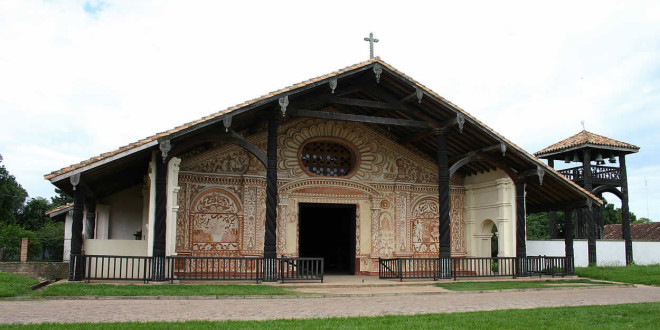 San Rafael de Velasco mission (1696), Bolivia. Photo Copyright by Geoffrey A. P. Groesbeck