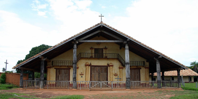 Santa Ana de Velasco mission, Bolivia. Photo Copyright by Geoffrey A. P. Groesbeck