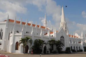St.Thomas Basilica (1893), Mylapore, Chennai, India. Author Simon Chumkat. Licensed under the Creative Commons Attribution
