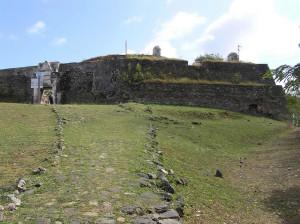 Stone Road at the entrance of the fort Fortaleza de Nossa Senhora dos Remédios, Fernando de Noronha, Brazil. Author and Copyright Marco Ramerini