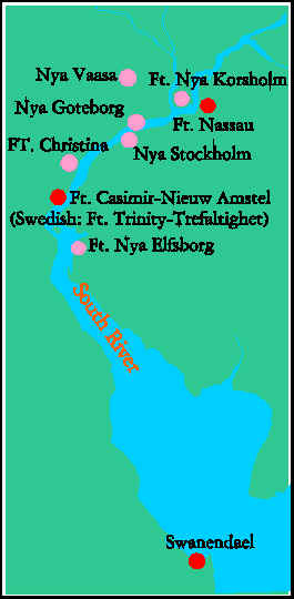 New Sweden The Swedish Settlements In North America Colonial Voyage - Sweden new map